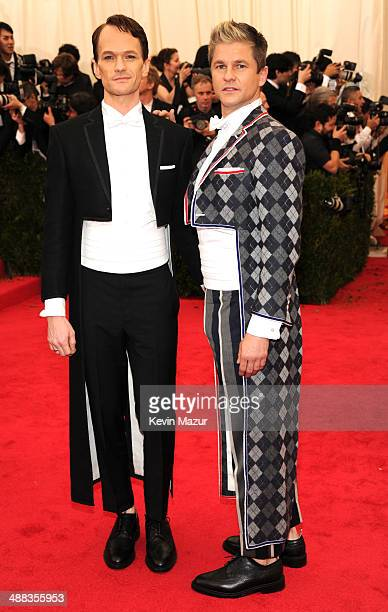 Neil Patrick Harris and David Burtka attend the Charles James Beyond Fashion Costume Institute Gala at the Metropolitan Museum of Art on May 5 2014...