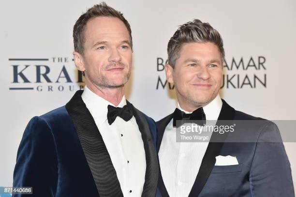 Neil Patrick Harris and David Burtka attend the Elton John AIDS Foundation Commemorates Its 25th Year And Honors Founder Sir Elton John During New...