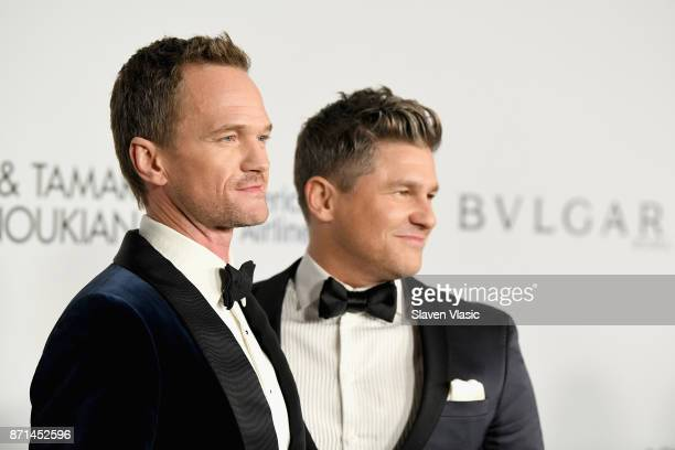 Neil Patrick Harris and David Burtka attend the Elton John AIDS Foundation's Annual Fall Gala with Cocktails By Clase Azul Tequila at Cathedral of St...