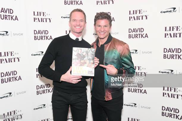"""Neil Patrick Harris and David Burtka attend the Launch of Burtka's new cookbook """"Life Is A Party"""" at The Top of The Standard on April 15, 2019 in New..."""