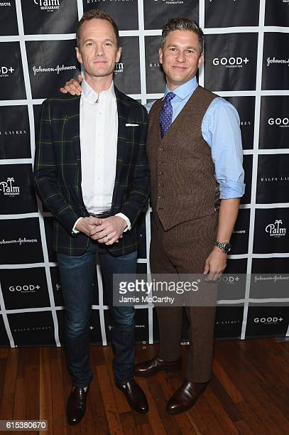 Neil Patrick Harris and David Burtka attend the New York Fatherhood Lunch to benefit GOOD Foundation on October 18 2016 in New York City