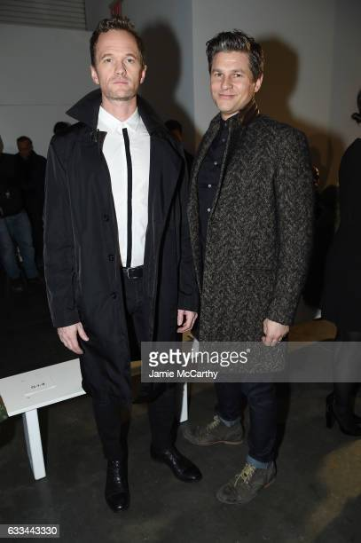 Neil Patrick Harris and David Burtka attend the Raf Simons fashion show during NYFW Men'son February 1 2017 in New York City