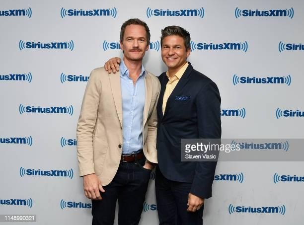 Neil Patrick Harris and David Burtka visit SiriusXM Studios on June 10, 2019 in New York City.