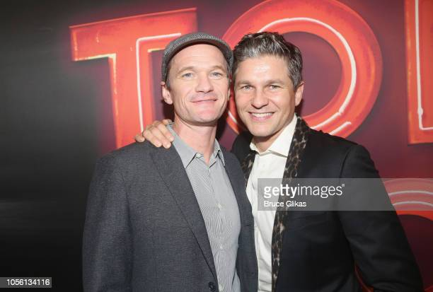 Neil Patrick Harris and husband David Burtka pose at the opening night of Torch Song on Broadway at The 2nd Stage Helen Hayes Theater on November 1...