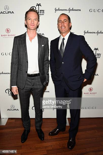 Neil Patrick Harris and Jerry Seinfeld attend Jerry Seinfeld hosts lunch to support the Baby Buggy Fatherhood Initiative sponsored by Acura Gucci and...