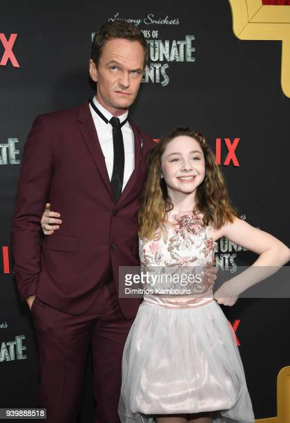 Neil Patrick Harris and Kitana Turnbull attend the Netflix Premiere of 'A Series of Unfortunate Events' Season 2 on March 29 2018 in New York City