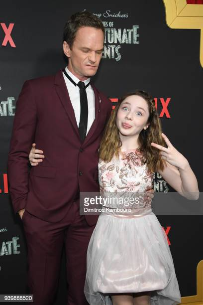 Neil Patrick Harris and Kitana Turnbull attend the Netflix Premiere of A Series of Unfortunate Events Season 2 on March 29 2018 in New York City