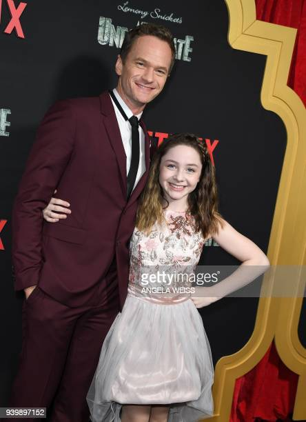 Neil Patrick Harris and Kitana Turnbull attend the Netflix Premiere of 'A Series of Unfortunate Events' Season 2 on March 29 2018 in New York City /...