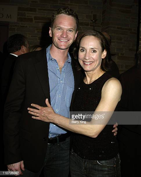 Neil Patrick Harris and Laurie Metcalf during Geffen Playhouse Presents 'All My Sons' at Geffen Playhouse in Westwwod California United States