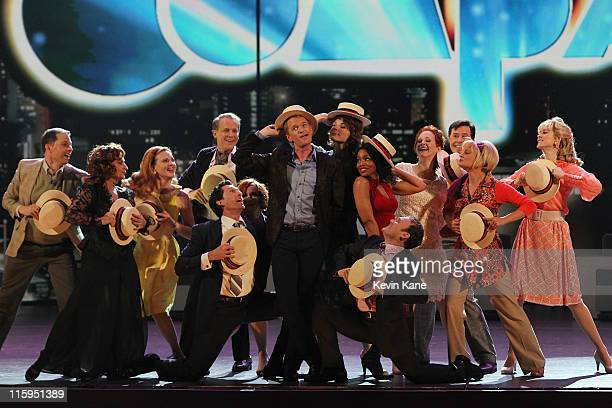 Neil Patrick Harris and the cast of 'Company' perform on stage during the 65th Annual Tony Awards at the Beacon Theatre on June 12 2011 in New York...