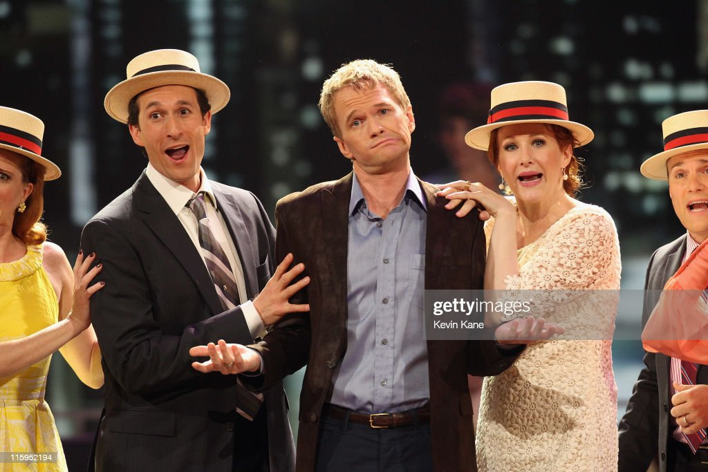 Neil Patrick Harris and the cast of 'Company' perform on stage during the 65th Annual Tony Awards at the Beacon Theatre on June 12, 2011 in New York City.