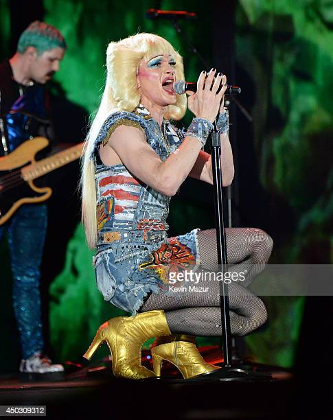 Neil Patrick Harris and the cast of Hedwig and the Angry Inch perform onstage during the 68th Annual Tony Awards at Radio City Music Hall on June 8...