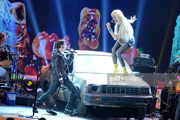Neil Patrick Harris and the cast of Hedwig and the Angry Inch performs onstage during the 68th Annual Tony Awards at Radio City Music Hall on June 8...