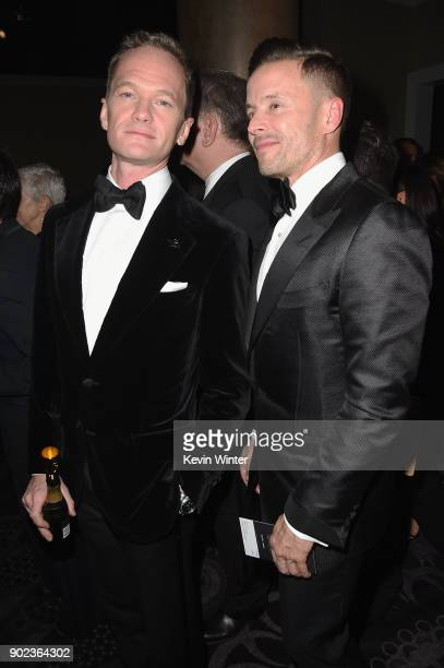 Neil Patrick Harris attends a cocktail reception during The 75th Annual Golden Globe Awards at The Beverly Hilton Hotel on January 7 2018 in Beverly...
