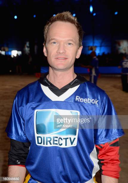 Neil Patrick Harris attends DIRECTV'S 7th Annual Celebrity Beach Bowl at DTV SuperFan Stadium at Mardi Gras World on February 2 2013 in New Orleans...