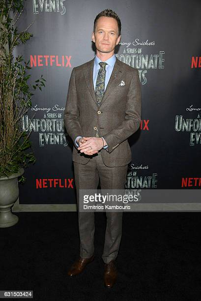 Neil Patrick Harris attends the Lemony Snicket's a Series of Unfortunate Events screening at AMC Lincoln Square Theater on January 11 2017 in New...