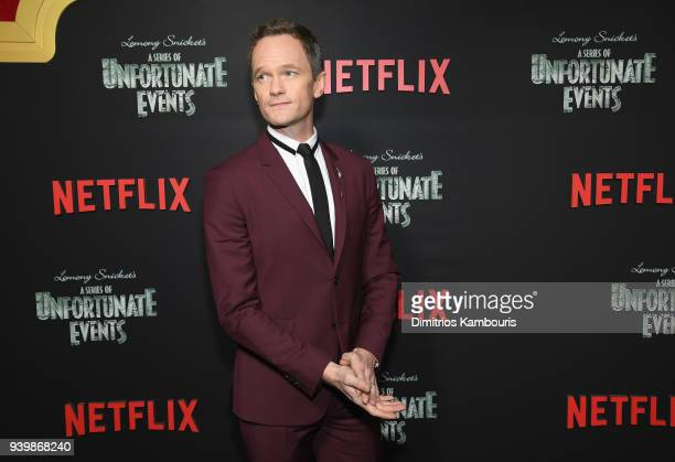Neil Patrick Harris attends the Netflix Premiere of 'A Series of Unfortunate Events' Season 2 on March 29 2018 in New York City