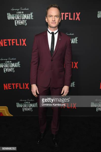 Neil Patrick Harris attends the Netflix Premiere of A Series of Unfortunate Events Season 2 on March 29 2018 in New York City