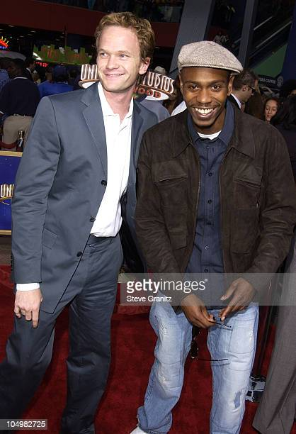 Neil Patrick Harris Dave Chappelle during Undercover Brother Premiere at Universal Citywalk in Universal City California United States