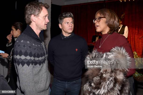 Neil Patrick Harris David Burtka and Gayle King attend Experience Harlem hosted by Airbnb and Ghetto Gastro on March 14 2017 in New York City