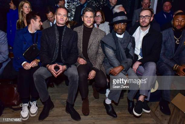 Neil Patrick Harris David Burtka Billy Porter and Adam Smith attend Joseph Abboud Men's FW19 Runway Show at South Street Seaport on February 04 2019...