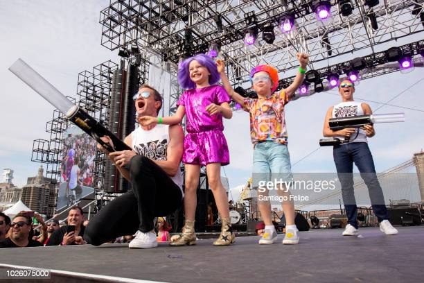 Neil Patrick Harris, David Burtka with kids Harper Grace Burtka-Harris and Gideon Scott Burtka-Harris attend Wigstock 2018 at Pier 17 on September 1,...