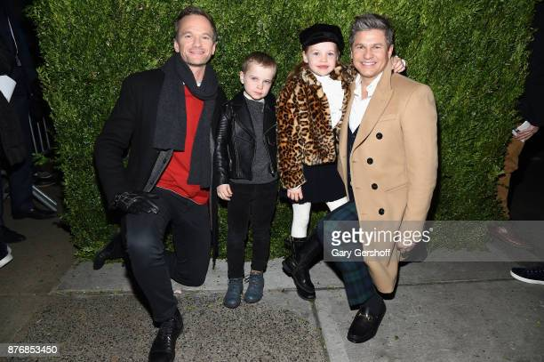 "Neil Patrick Harris, Gideon Scott Burtka-Harris, Harper Grace Burtka-Harris and David Burtka attend the 2017 Saks Fifth Avenue & Disney ""Once Upon a..."