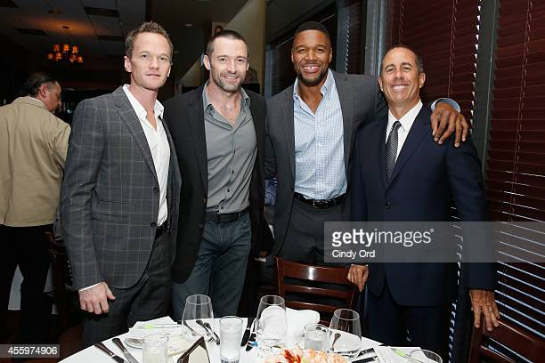 Neil Patrick Harris Hugh Jackman Michael Strahan and Jerry Seinfeld attend Jerry Seinfeld hosts lunch to support the Baby Buggy Fatherhood Initiative...
