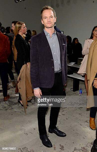 Neil Patrick Harris is seen front row during Ovadia Sons New York Fashion Week Men's Fall/Winter 2016 at Skylight at Clarkson Sq on February 2 2016...