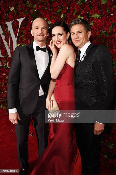 Neil Patrick Harris Lena Hall and David Burtka attends the 70th Annual Tony Awards at The Beacon Theatre on June 12 2016 in New York City