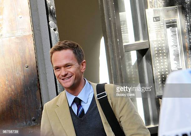 Neil Patrick Harris on location for 'The Smurfs' on April 29 2010 in New York City