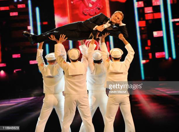 Neil Patrick Harris performs on stage during the 65th Annual Tony Awards at the Beacon Theatre on June 12 2011 in New York City