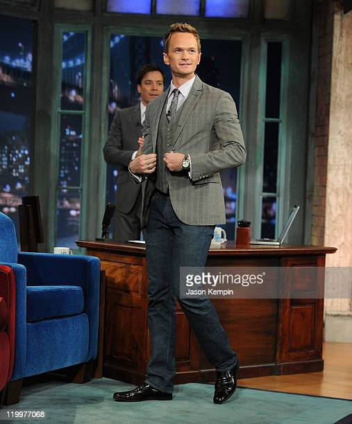 Neil Patrick Harris visits Late Night With Jimmy Fallon at Rockefeller Center on July 27 2011 in New York City