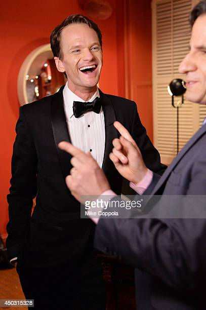 "Neil Patrick Harris winner of the award for Best Performance by an Actor in a Leading Role in a Musical for ""Hedwig and the Angry Inch"" poses in the..."