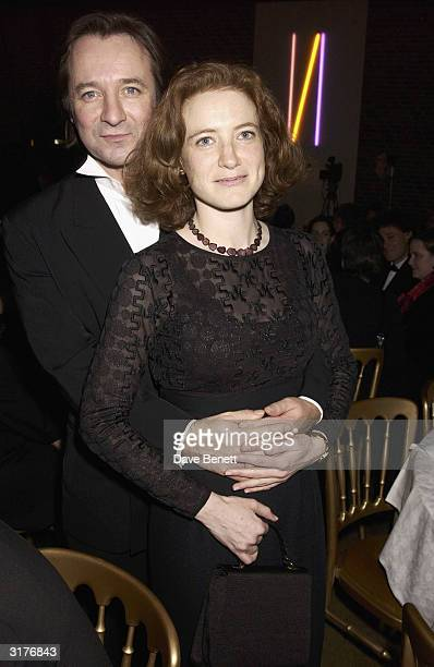 Neil Pearson and guest attend The Whitbread Book Awards at The Brewery on January 28 2003 in London
