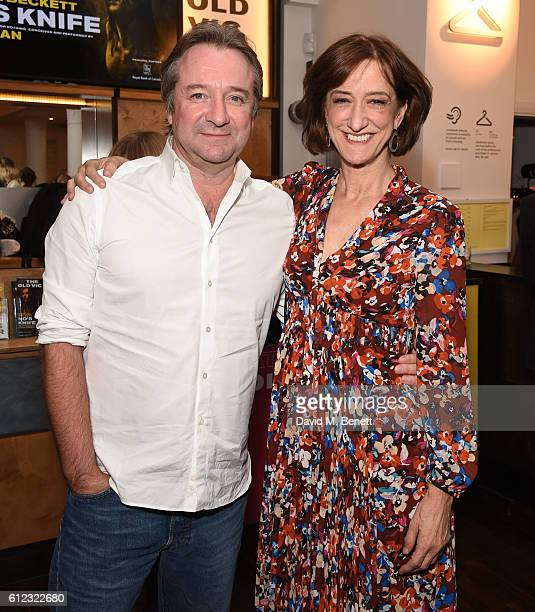 Neil Pearson and Hayden Gwynne attend the press night after party for 'No's Knife' at The Old Vic Theatre on October 3 2016 in London England