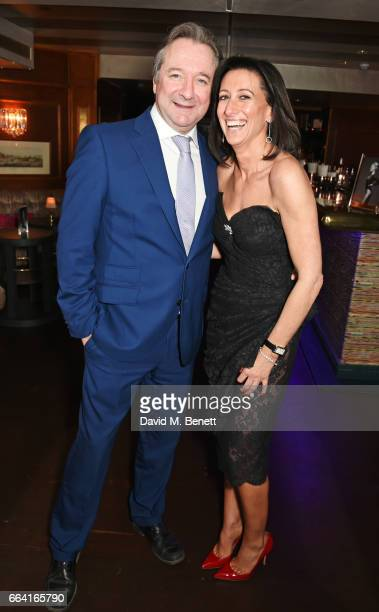 Neil Pearson and Lucy Litwack attend the launch of the Coco De Mer Icons Collection at Albert's Club on April 3 2017 in London England
