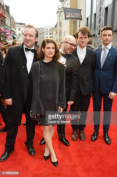 Neil Pearson Jemima Rooper Robert Askins Harry Melling and Kevin Mains of 'Hand To God' arrive at The Olivier Awards with Mastercard at The Royal...