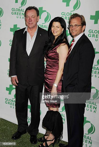 Neil Peart Carrie Nuttall and Matt Peterse arrive at Global Green USA's 10th Annual PreOscar party at Avalon on February 20 2013 in Hollywood...