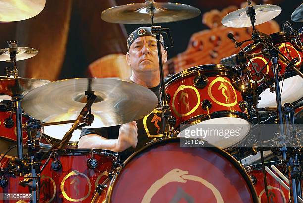 Neil Peart of Rush during Rush Performs at Sound Advice Amphitheater in West Palm Beach FL June 16 2007 at Sound Advice Amphitheater in West Palm...