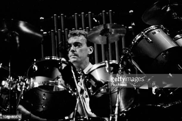 Neil Peart of the band Rush performs at the Rosemont Horizon in Rosemont Illinois November 19 1982