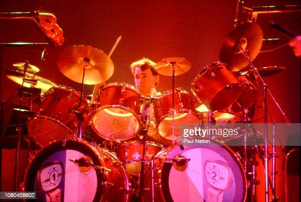 Neil Peart of the band Rush performs at the Rosemont Horizon in Rosemont Illinois June 2 1995