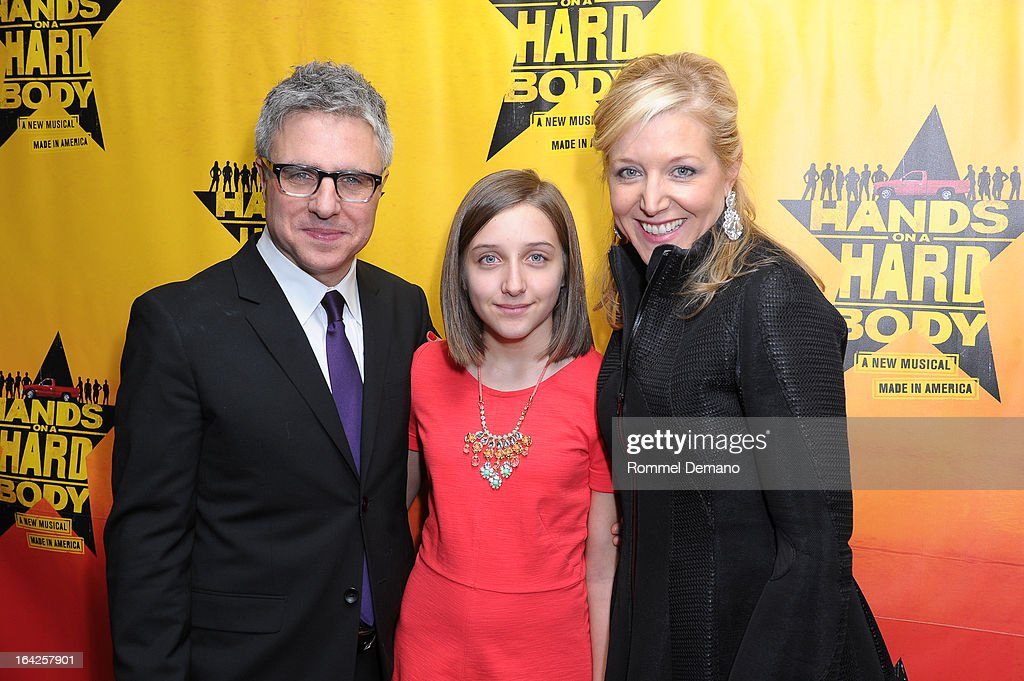 Neil Pepe, Lena Pepe and Mary McCann attend 'Hands On A Hard Body' Broadway Opening Night After Party at Roseland Ballroom on March 21, 2013 in New York City.