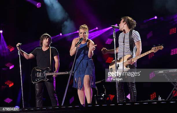 Neil Perry, Kimberly Perry and Reid of The Band Perry perform at LP Field during the 2015 CMA Festival on June 12, 2015 in Nashville, Tennessee.