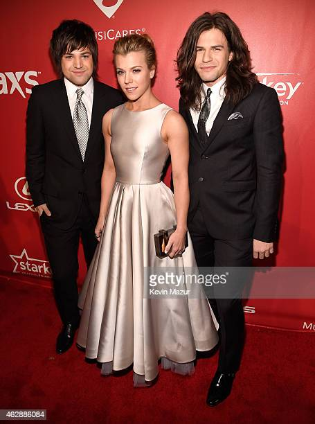 Neil Perry Kimberly Perry and Reid Perry attend the 25th anniversary MusiCares 2015 Person Of The Year Gala honoring Bob Dylan at the Los Angeles...