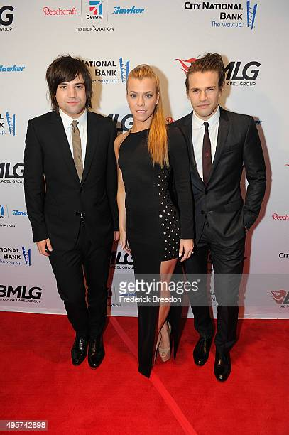 Neil Perry, Kimberly Perry, and Reid Perry of The Band Perry attend as the Big Machine Label Group celebrates The 49th Annual CMA Awards at Rosewall...