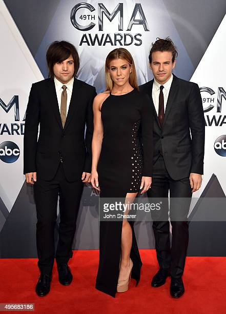 Neil Perry, Kimberly Perry, and Reid Perry of The Band Perry attend the 49th annual CMA Awards at the Bridgestone Arena on November 4, 2015 in...