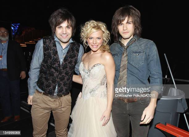 Neil Perry Kimberly Perry and Reid Perry of The Band Perry attends the American Country Awards 2011 at the MGM Grand Garden Arena on December 5 2011...
