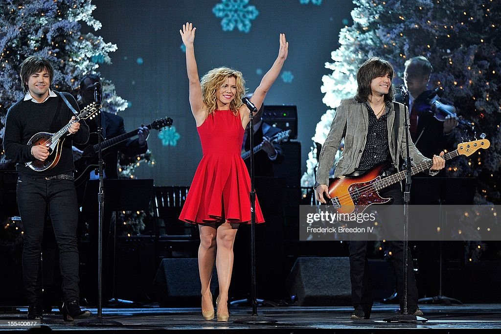 Neil Perry, Kimberly Perry, and Reid Perry of The Band Perry perform during the 2012 Country Christmas at the Bridgestone Arena on November 3, 2012 in Nashville, United States.