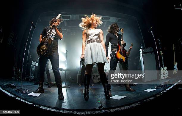 Neil Perry Kimberly Perry and Reid Perry of The Band Perry perform live during a concert at the CClub on November 20 2013 in Berlin Germany